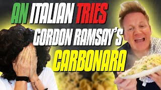 An Italian Tries Gordon Ramsay's Carbonara Recipe | 10 Minute Spaghetti Alla Carbonara
