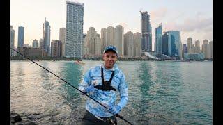 Рыбалка в ДУБАЙ среди небоскребов