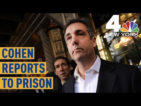 Ex-Trump Lawyer Michael Cohen Arrives at Prison  NBC New York