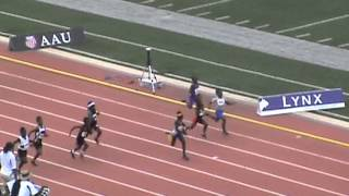 2013 AAU JUNIOR OLYMPIC CHAMPIONSHIPS - 8 UNDER BOYS 100 METER SEMI -HEAT 2