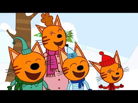 Три кота | Снежные горки | Серия 37 | Мультфильмы для детей