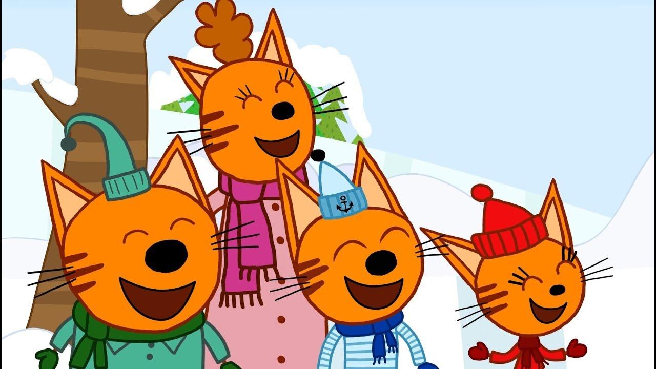 Мультик три кота музыкальная открытка, открытках английском