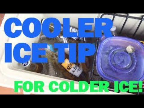 DIY To Keep your cooler the coldest with rock salt