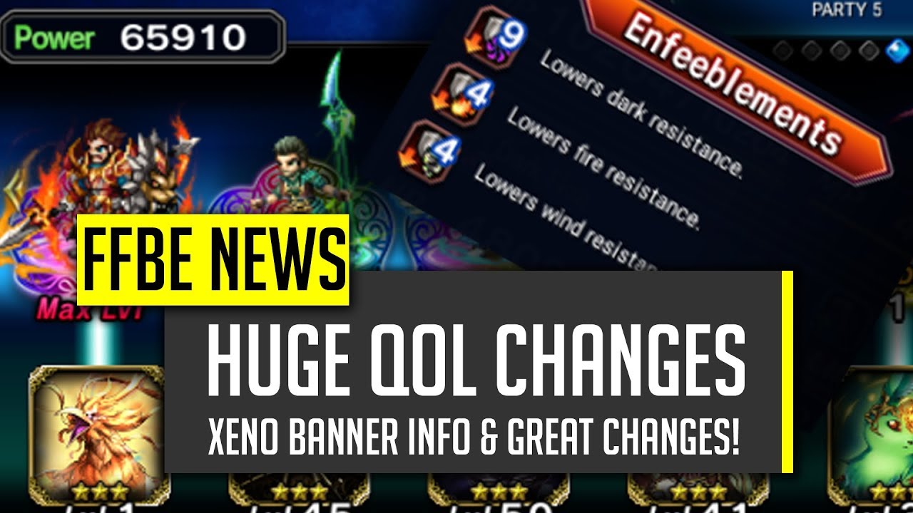 BIG QoL Changes This Patch! Great Stuff! - [FFBE] Final