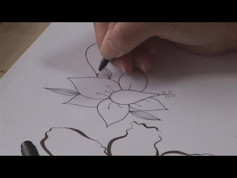How to practice drawing flowers youtube for How to draw a really good flower