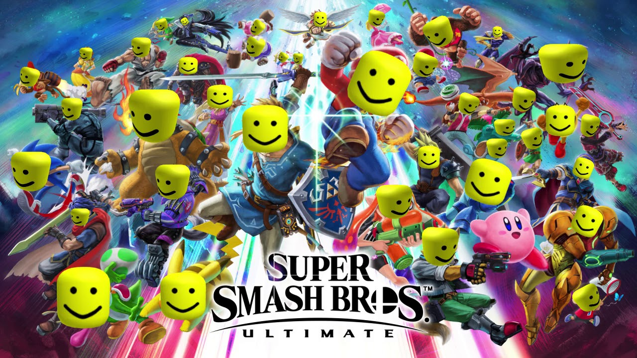 Super Smash Bros Ultimate Theme But I Replaced It With The Roblox Oof Sound - roblox oof theme
