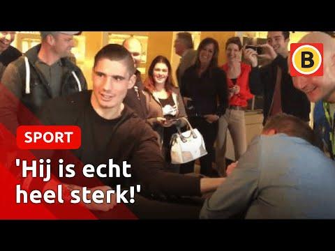 Kansloze missie: armpje drukken tegen wereldkampioen kickboksen Rico Verhoeven uit Halsteren