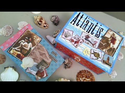 How I Scrapbooked my Atlantis Vacation Mini Album and Keepsake box