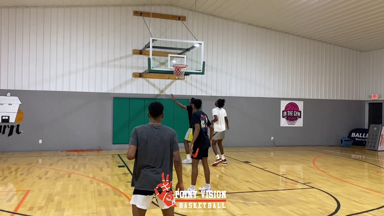 Highly Skilled College Athletes at 3 Point Vision Basketball Training