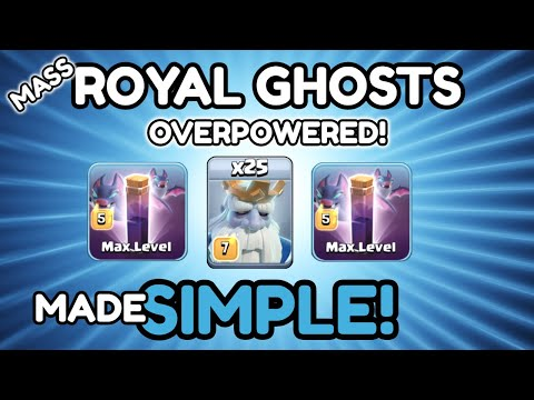 *OVERPOWERED* NEW MASS ROYAL GHOST ATTACK - NEW TH12 Attack Strategy 2019 - Clash Of Clans