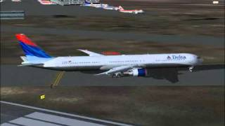 Delta Airlines Flight 56 Arrives Barcelona,Spain (FS2004)