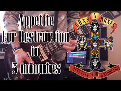 GnR – Appetite For Destruction in 5 Min – #5MinAlbumCover