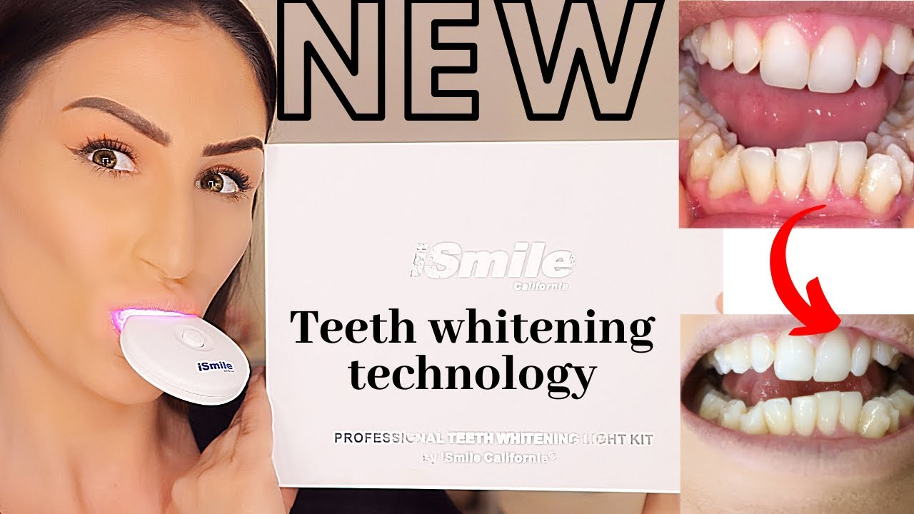New At Home Teeth Whitening Kit With Red Light For Sensitive Teeth