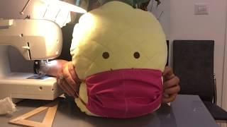 МАСКА для лица от КОРОНОВИРУСА Как шить МАСКУ для лица ДОМА Многоразовая маска для лица УРОК 10