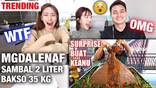 INDONESIAN SPICY QUEEN MGDALENAF EATS SAMBAL 2 LITER + BAKSO 35 KG WITH KEANU | CRAZY...HOW....WHAT?
