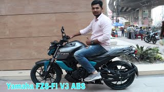 New Yamaha FZS-FI V3 ABS 🏍️ First Impression 🔥 Full Details   Specification/Price Bangladesh.