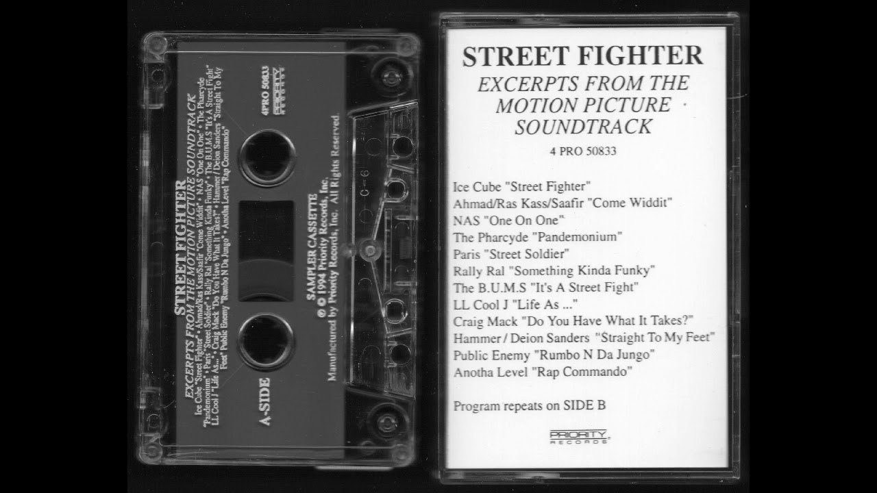 Download Street Fighter - Excerpts From The Motion Picture Soundtrack - Full Album Cassette Tape Rip - 1994