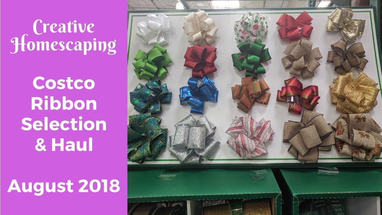 Costco Christmas Ribbon 2019 Costco Ribbon Haul || Summer 2018   YouTube