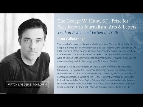 The 2017 George W. Hunt, S.J., Prize Ceremony