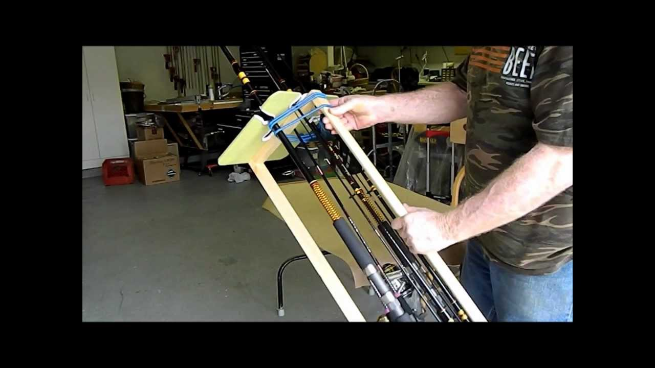 How to make a fishing rod carrier tote for cheap youtube for Fishing rod tote