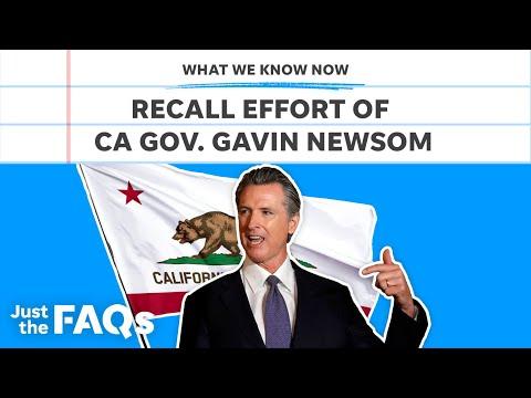 California governor Gavin Newsom facing recall, explained   Just the FAQs