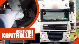 Stoßdämpfer kaputt! Darf der LKW von der Polizei weiterfahren? | Achtung Kontrolle | Kabel Eins