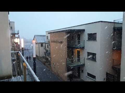 Snow in Athlone, Ireland