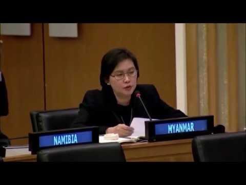 UN ambassador of Myanmar speaks at 71st General Assembly