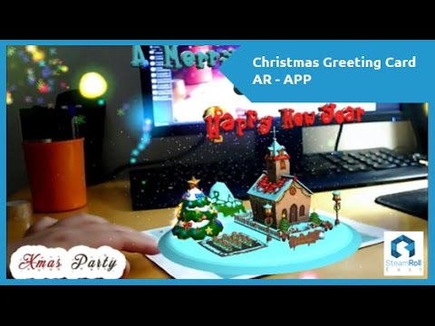 Christmas Greeting Card Augmented Reality App Free Youtube