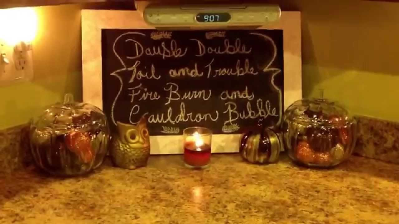 fall kitchen decor cabinet installers 1 vlog series falloween counter hobby lobby haul youtube