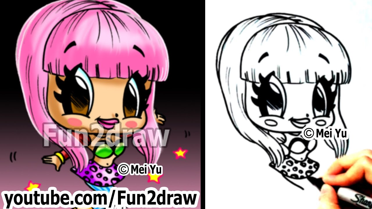 Nicki minaj chibi drawing tutorial cute easy cartoon drawing how nicki minaj chibi drawing tutorial cute easy cartoon drawing how to draw fun2draw youtube voltagebd Image collections