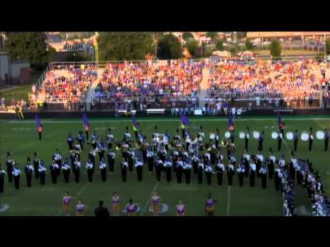 Cass Football: Combined marching bands of Cartersville and Cass perform amazing grace and national a