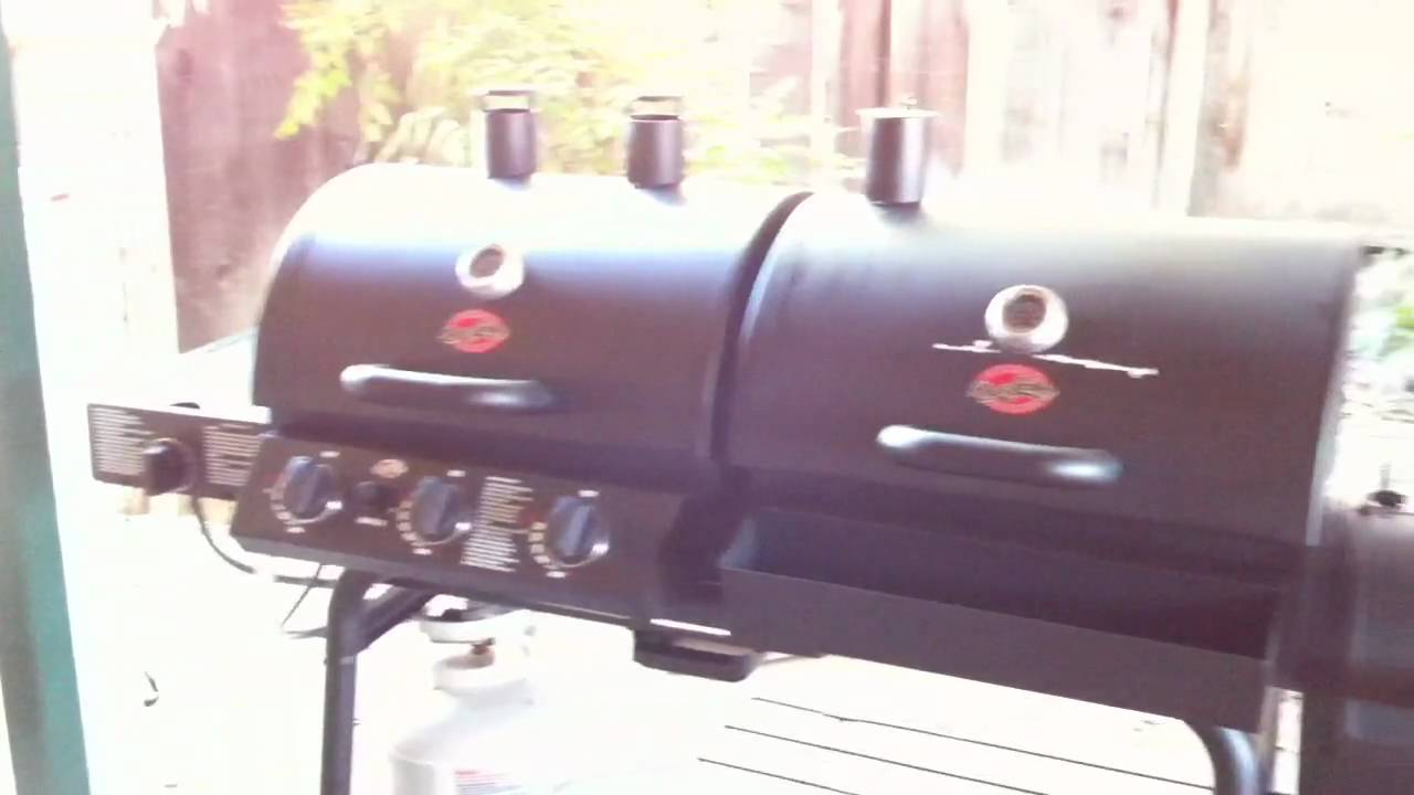 56c318166a1 Char-Griller Duo w  Side Firebox - YouTube