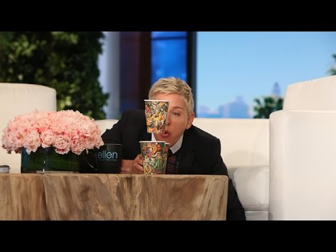 Ellen Tries the Blow Cup Challenge!