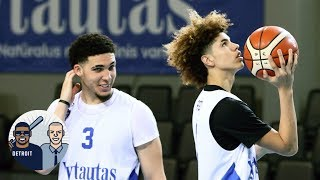 LiAngelo and LaMelo Ball scoreless in Lithuanian league debut | Jalen & Jacoby | ESPN