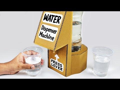 How to make WATER Dispenser Machine from Cardboard DIY Desk Dispenser