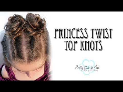 Princess Twist Top Knot Bun Hairstyle | Half Up/ Prom Hairstyles | Pretty Hair is Fun