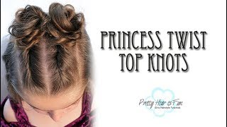 PRINCESS TOP KNOT HAIRSTYLE! 👑