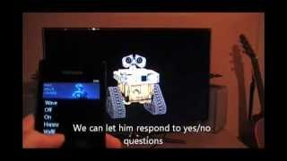 """Holographic WALL-E"" using Kinect SDK and Windows Phone"
