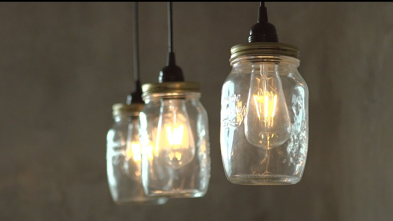Mason Jar Pendant Light Youtube