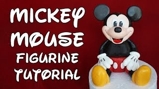 Mickey Mouse Figurine Cake Topper Tutorial - How To