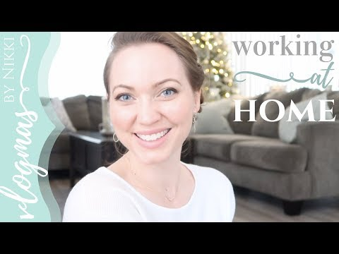 WORKING AT HOME | HOMEMAKING TAG | VLOGMAS 2017 DAY 7
