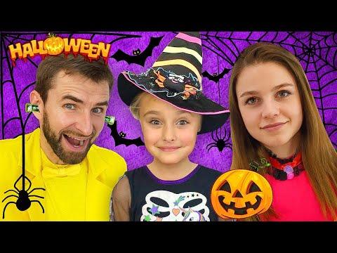 Sasha And Halloween Trick Or Treat Contest And Makeup