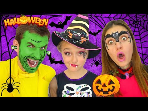 Sasha and Halloween Trick or Treat Contest and Makeup