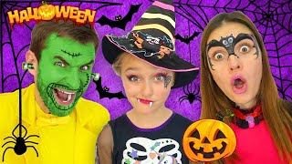 Download Sasha and Halloween Trick or Treat Contest and Makeup Mp3 and Videos