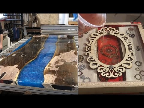 21 Amazing Epoxy Resin Application to Woodwork DIY Wood Projects! Resin Table, Guitar and Frames