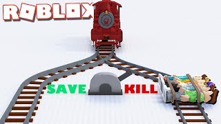 Roblox Adventures - WILL YOU PULL THE LEVER? (Kill or Save in Roblox) thumbnail