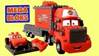 MegaBloks Mack & Lightning McQueen 7769 Disney Pixar Cars Lego Blocks 8486 Mack's Team Truck thumbnail