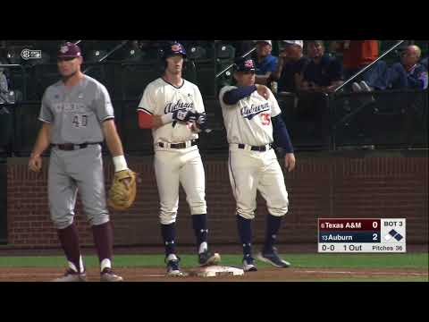 Auburn Baseball vs Texas A&M Game 1 Highlights
