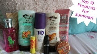 My Top 10 Products For Summer! Thumbnail
